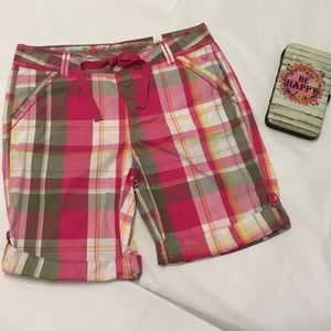 ❇️2/$20Justice Girls Adjustable Plaid Shorts NWT